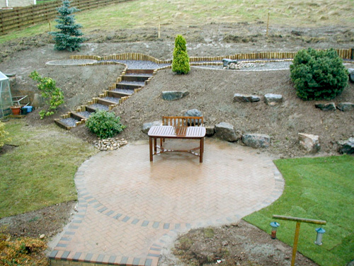 Falkirk Garden tidied over remaining areas and left ready for planting up, works completed within two weeks.